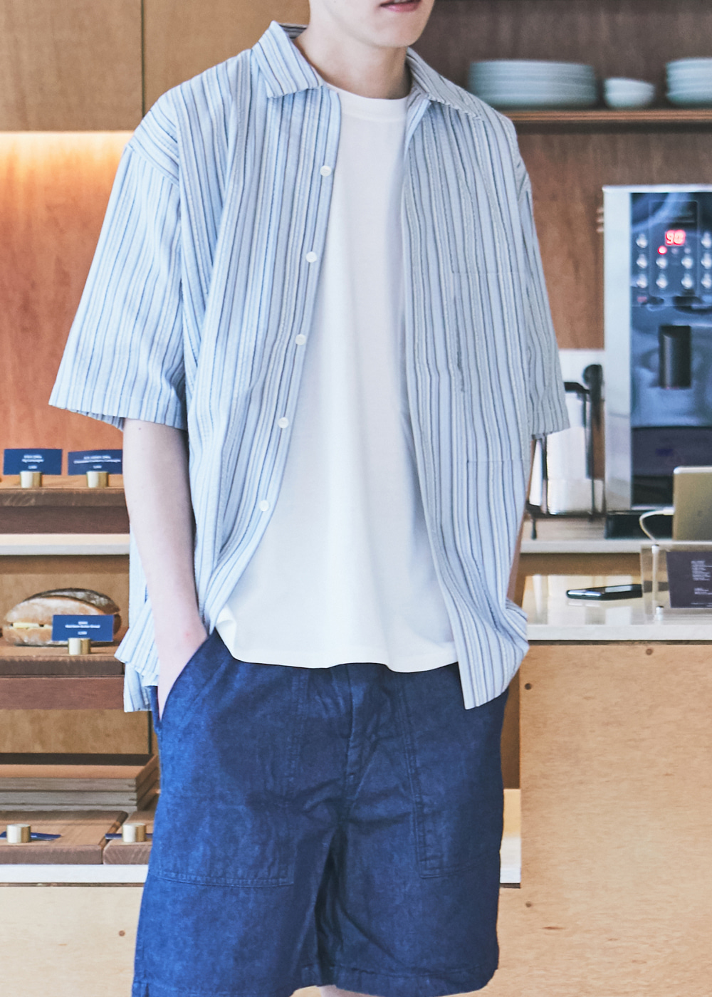 20SS BLUE SEERSUCKER SHIRT